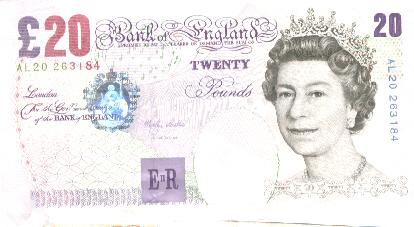 billet de banque livre sterling